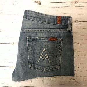 7 For All Mankind A Pocket Cut Off Short Shorts